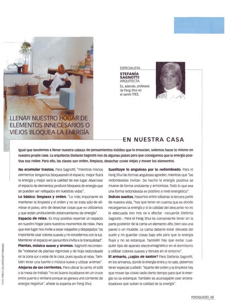 """""""En Nuestra Casa"""" - Revista """"Psychologies"""""""